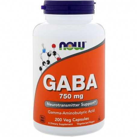 NOW GABA 750 MG, 200 tablets