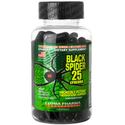 BLACK SPIDER ECA CLOMA PHARMA